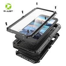 Luksusowy pancerz metalowy aluminiowy wodoodporny futerał na telefon dla iPhone XR X 6 6S 7 8 Plus XS Max odporny na wstrząsy pyłoszczelne solidne etui