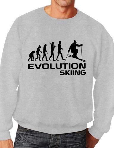 Evolution Of Snowboarding Skiing Sweatshirt Jumper Unisex Birthday Gift Size S