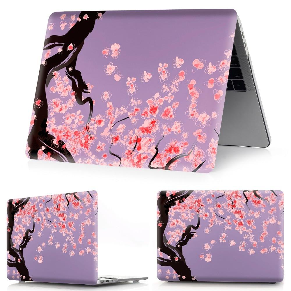 Image 2 - Drukowanie w kolorze kwiatowym etui na notebooka Macbook Air 11 13 Pro Retina 12 13 15 calowe kolory pasek dotykowy nowy Pro 13 15 nowe powietrze 13Torby i etui na laptopy   -