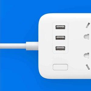 Image 4 - XiaoMi Mi Smart Power Strip 6 Ports with 3 USB Fast Charging 2.1A USB Power Plug Charger Socket US UK EU AU Power strip H15