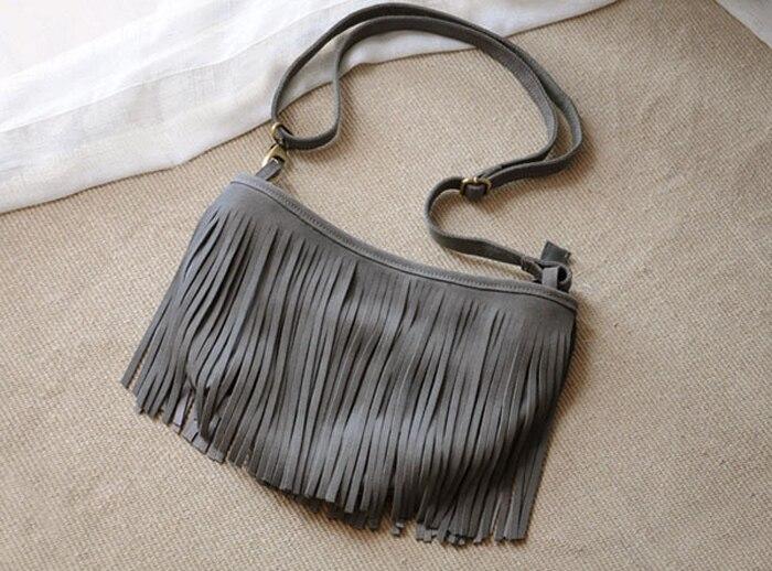 genuine leather fringe tassel bags women shoulder crossbody bag women's handbags bag (14)