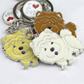 Hot Sale Chow Chow Keychain Dog Metal Key Ring Diy Pet Dog Key Chain Women Fashion Jewelry Pet Accessories Car Keyring