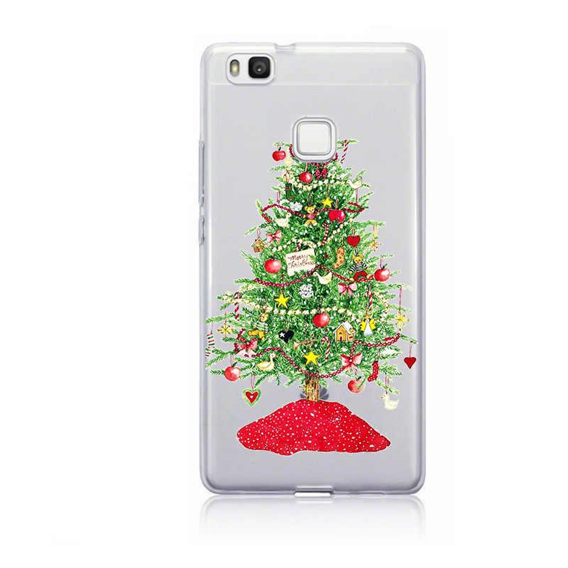 إِلْكَة عيد الميلاد حافظة لهاتف Huawei P20 لايت حالة غطاء لينة TPU لهواوي زميله 10 20 P30 لايت برو P الذكية 2019 P9 p10 لايت كابا