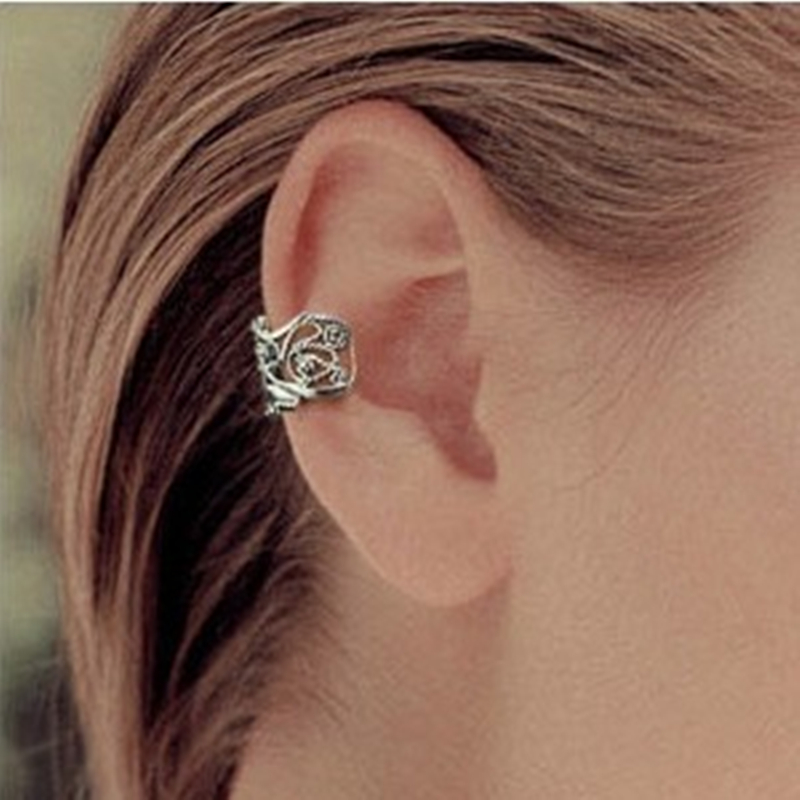 Fashion Cheap Personality Hollow Type U Clamp Type Vintage Ear Cuff Alloy Metal Earring Wholesales Jewelry