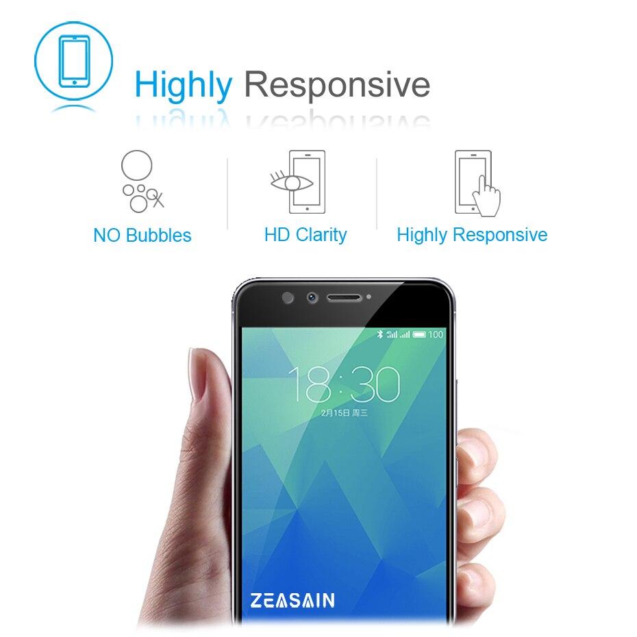 Asli ZEASAIN Penuh Penutup Kaca Tempered untuk Meizu M5S M5 S Meilan - Aksesori dan suku cadang ponsel - Foto 4