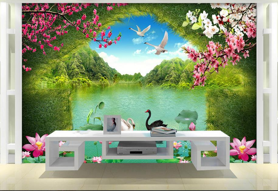 customize wallpaper for walls 3 d Swan Lake Picture in Picture 3D TV Backdrop 3d photo wall mural 3d landscape wallpaper customize wallpaper for walls 3 d swan lake picture in picture 3d tv backdrop 3d photo wall mural 3d landscape wallpaper
