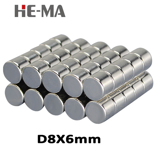 imanes 20Pcs 8x6 Neodymium Magnet Permanent N35 NdFeB Super Strong Powerful Magnetic Small Magnets HE-MA Disc 8mmx6mm