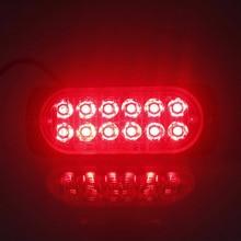 12 Светодиодный внедорожных автомобилей Грузовик Безопасности срочно рабочий туман красный светильник 12 V-24 V 36W супер яркий светодиодный рабочий светильник противотуманный автомобильный внедорожник шлюпочная фара