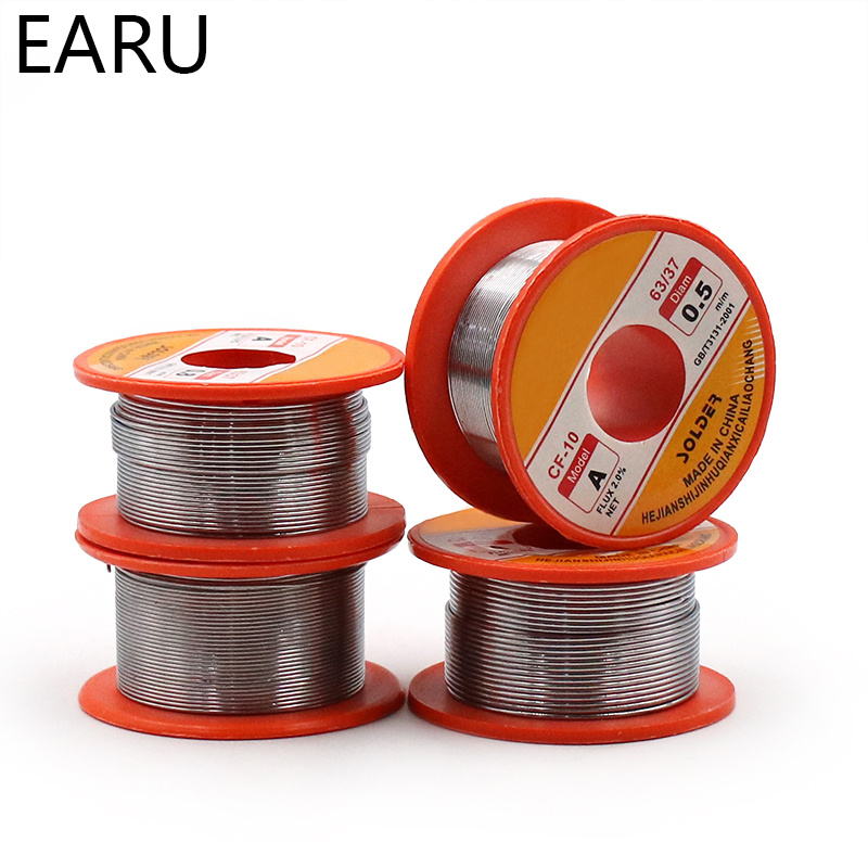50g One Roll 0.3/0.4/0.5/0.6/0.8/1.0mm Diam 60/40 63/37 Clean Rosin Core Welding Tin Lead Solder Iron Wire Reel Soldering Tools