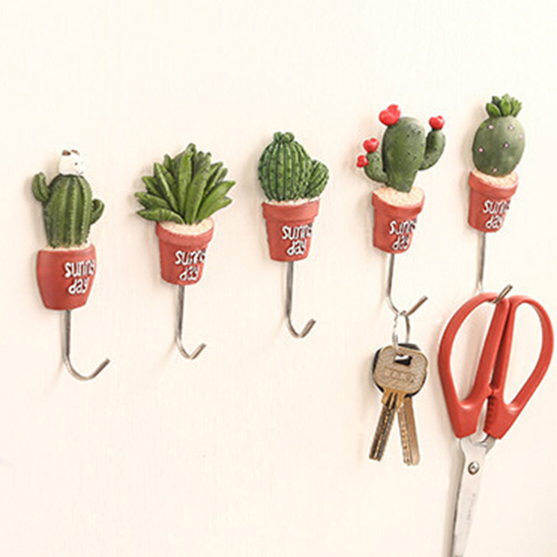 Potted Design Stainless Steel Robe Hanging Hooks Hats Key Adhesive Wall Hanger Bathroom Kitchen Accessories