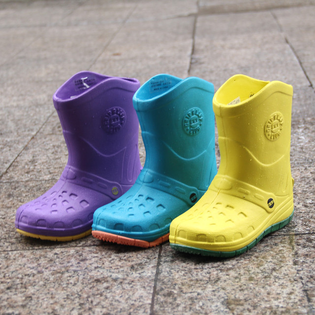 Los niños coreanos botas de lluvia los niños del bebé de dibujos animados de agua zapatos de los niños zapatos Boys Girls niño infantil botas de chuva infantil