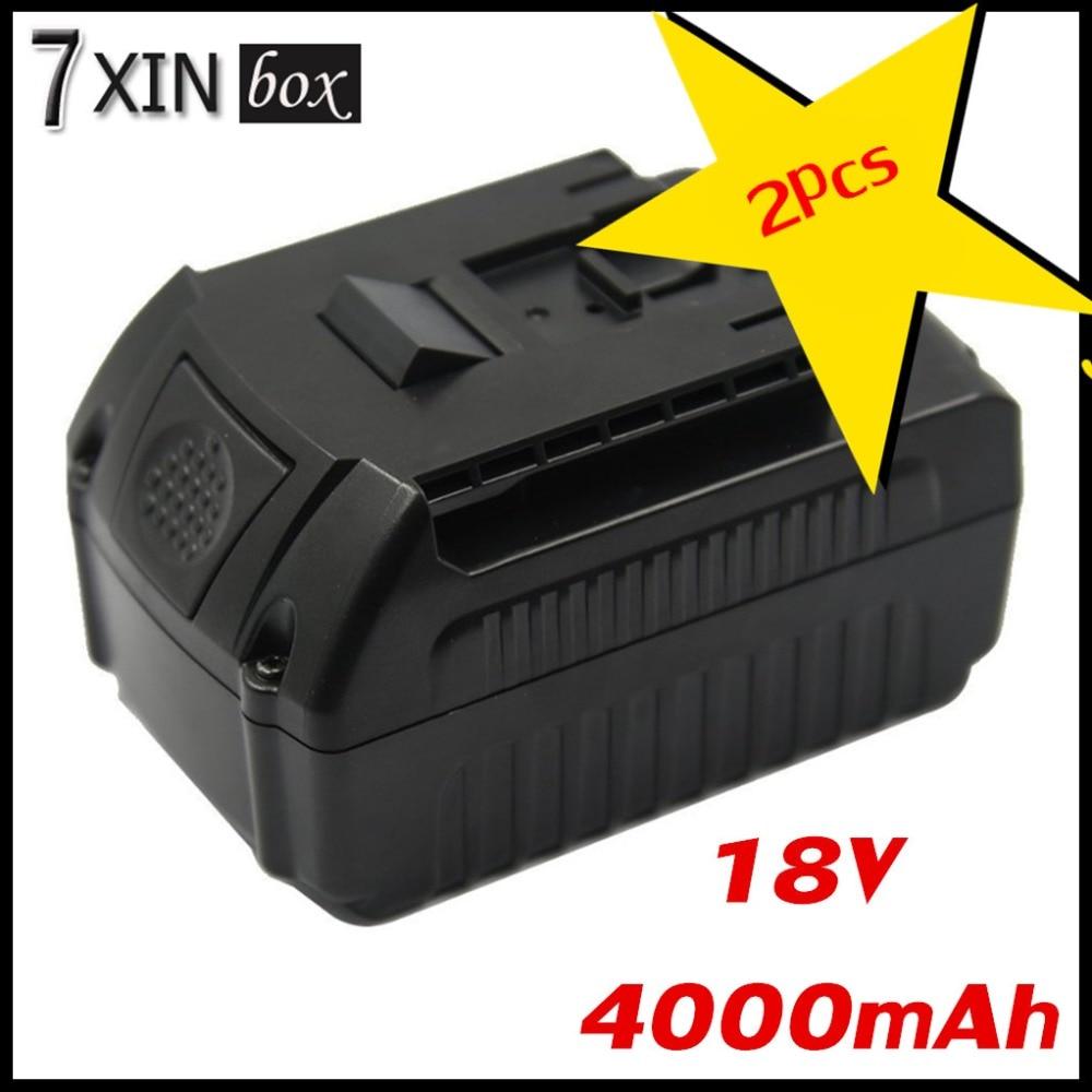 2PCS 18V 4.0AH Li-ion Battery For Bosch BAT609 BAT618 17618 25618-01 RHH180 RHH180-01 JSH180 DGSH181 DGSH181K 37618 37618-01 4 pcs replacement for bosch rechargeable battery 18v 4 0 ah li ion battery for bosch 17618 bat609 bat618 with led light