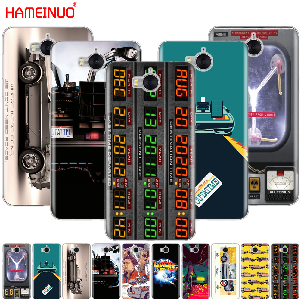 Back to the Future DeLorean Time Machine cell phone Cover Case for huawei honor 3C 4X 4C 5C 5X 6 7 Y3 Y6 Y5 2 II Y560 2017