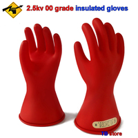 2.5KV 00 grade insulated gloves AC voltage 500V / DC voltage 750V Electrician insulated gloves Leakproof safety gloves Safety Gloves     -