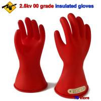 2.5KV 00 grade insulated gloves AC voltage 500V / DC voltage 750V Electrician insulated gloves Leakproof safety gloves