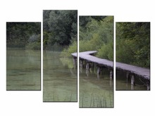 4 Piece Modular Wall Paintings Landscape Posters and Prints Canvas Art Picture for Living Room Home Decor JO13-06