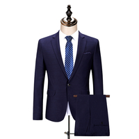 (מעיל + מכנסיים) ללבוש שלב סגול שמלת אופנה בסגנון ג 'נטלמן באיכות גבוהה Mens חליפות חתונה לגברים בלייזר עסקי גנט חיים