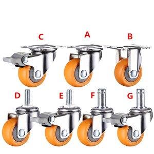 Image 4 - Roues pivotantes Orange, de 1.25 pouces avec 32mm, robustes, 80kg, pour meuble, 4 pièces