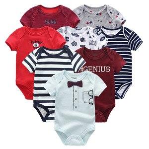 Image 5 - 8 יח\חבילה יוניסקס בנות תינוק בגדי Bodysuits תינוקת בגדי Unicor תינוק ילד בגדי ילדה Dressn כותנה Roupas דה bebe