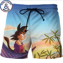 fcc6b5f39bc6e Men's 3D Anime Dragon Ball Z Board Shorts Trunks 2018 Summer New Quick Dry Beach  Shorts