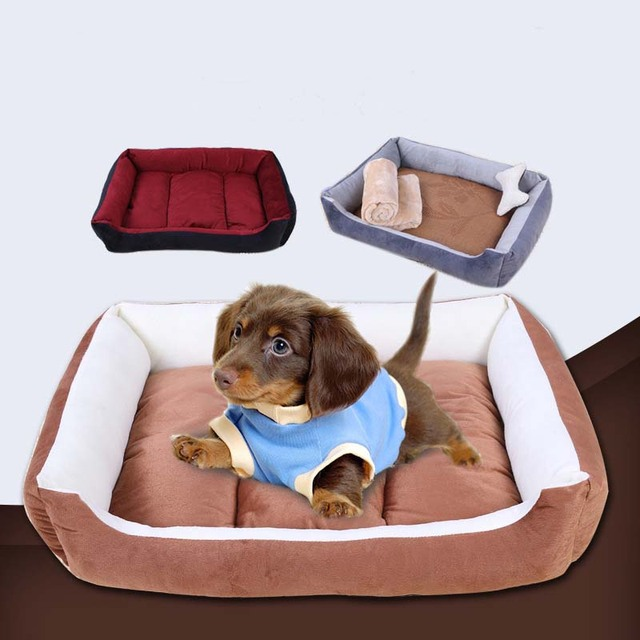 Solid Color Stripe Dog Beds For Small Dogs Dog House Waterproof Chihuahua Bed Medium Large Dogs Washable Bull Terrier Pet Bed