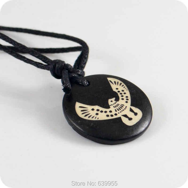 Орел костюм сокола-ястреба Як кости кулон Амулет ожерелье подарки на удачу Племенной моды ювелирные изделия