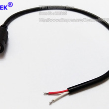 NCHTEK DC 5,5x2,5 мм 5,5/2,5 женские Мощность Зарядное устройство кабель для видеонаблюдения, DC женский косичка около 30 см/ /50 шт