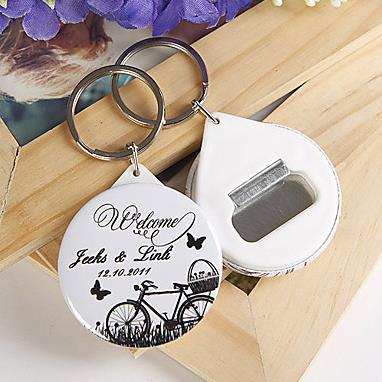 Free Shipping Personalized Wedding Favors And Gifts Bottle Opener Keychain For Guests Souvenirs In Party From Home Garden