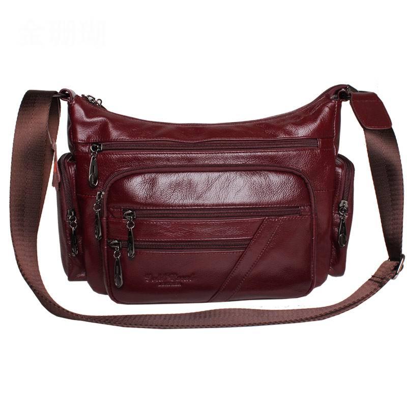 2018 European women Genuine Leather bag Women Messenger bags Vintage Female Ladies shoulder Bag Leather women Crossbody Bag A-51