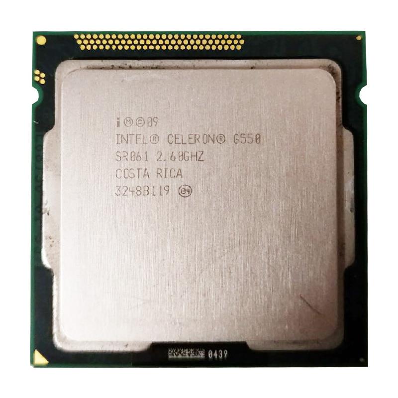 Intel Celeron G550 CPU 2M/2.60 GHz LGA 1155 TDP 65W H61 B75 81 B85 Motherboard Have A Pentium Dual Core G2030 2120 2130 Cpu Sale