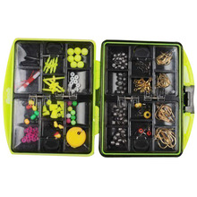 SEWS 24 kinds of Assorted Fishing tackles Swivels Jig hooks Leads Box accessory