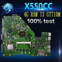 Amazoon X550CC материнская плата для ноутбука ASUS A550C X550CL R510C тесты оригинальная 4 г оперативная память I3 процессор GT710M