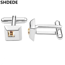 SHDEDE Fashion Jewelry Shirt Cufflink For Mens High Quality Crystal from  Swarovski Men Accessories  1132 c68ba0c154ce