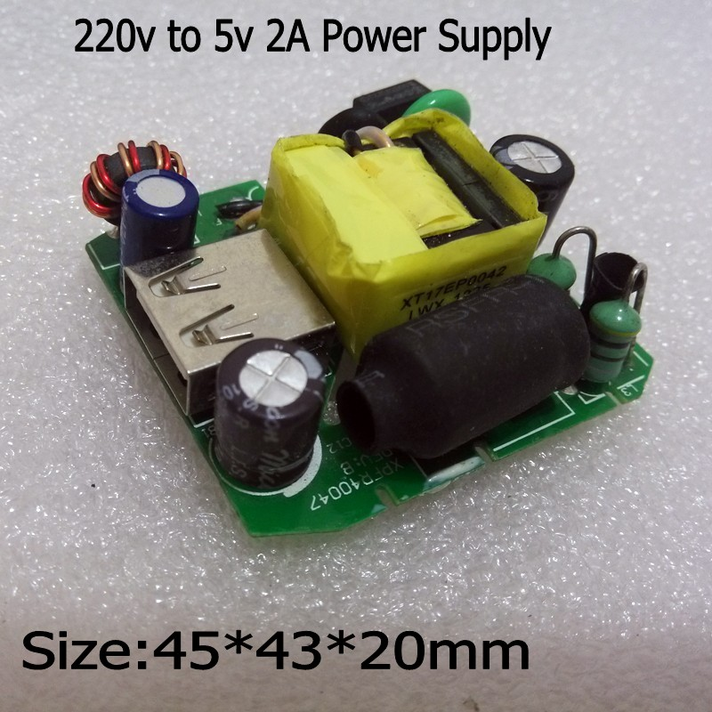 1Pcs <font><b>220</b></font> V to <font><b>5V</b></font> 2A <font><b>AC</b></font> - <font><b>DC</b></font> Isolated power supply module transformer <font><b>220</b></font> to <font><b>5v</b></font> Switching Power Supply X8993 image
