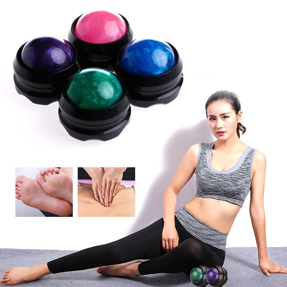 2017 Hot Manual Massage Ball Muscle Pain Stress Roller Massager For Arm Neck Back Body Roller Massager H7JP arm muscle fitness equipment electronic hand grips gyro power ball flash wrist ball