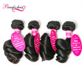 Peruvian Virgin Hair Loose Wave Peruvian Hair Bundles Peruvian Loose Curly Virgin Hair 4 Bundle Deals Remy Human Hair Extensions