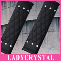 Ladycrystal 1Pair High Quality PU Leather Auto Seat Belt Cover Crystal Rhinestone Car Styling Car Seat Belt Shoulder Pad