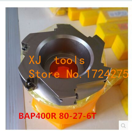 BAP 400R 80 27 6T 90 Degree Right Angle Shoulder Face Mill Head CNC Milling Cutter