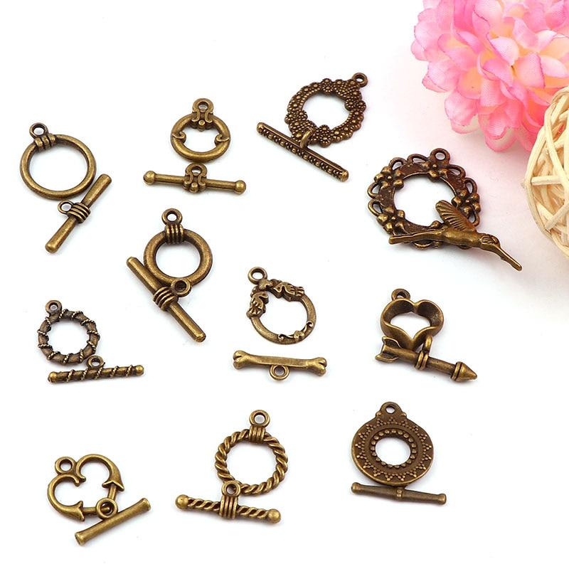 """Brass Jewelry snap hooks Double /""""8/"""" buckle necklace Bracelet Necklace accessory"""
