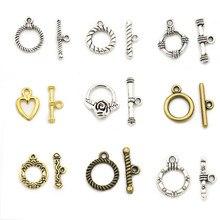 846bc2ab3d15 10 sets oro Color plata corazón flor sujetador pulsera Cierre de palanca  para hacer joyas Diy accesorios venta al por mayor lote.