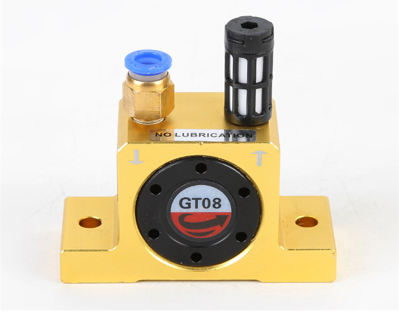 Free shipping GT4 GT6 GT8 GT10 Industrial Pneumatic vibrator oscillator air rotary turbine driven turbo vibrator Feidiwa type in Pneumatic Parts from Home Improvement