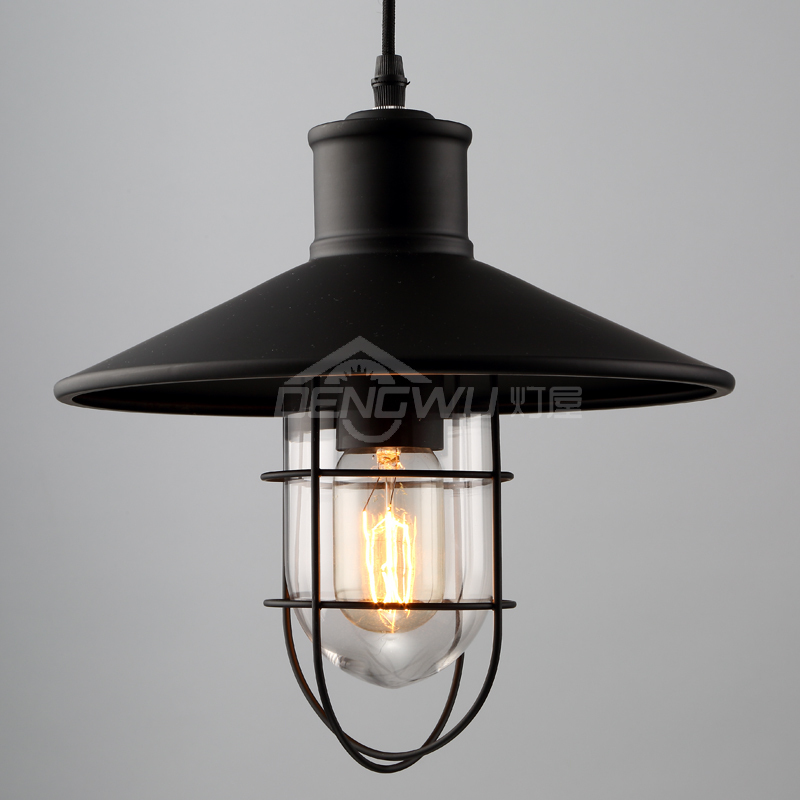 pendant light Restaurant Bar Loft retro modern minimalist creative industry single-head pendant lamp wrought iron balcony GY91 цена