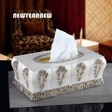 NEWYEARNEW Europe Resin Creative Tissue Boxes Antique Noble Home Decoration Storage Tissue Holder Box Wedding Gift Free Shipping