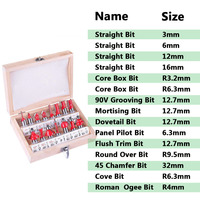 Wood Cutter Mill Woodworking Engraving Cutting Tools 15pcs Set 8mm Diameter Milling Cutter Router Bit Set