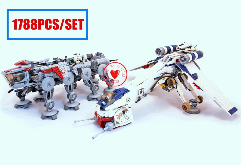 New the Republic Dropship driod star fighter fit legoings Star Wars figures technic Building Blocks Bricks diy Toy gift kid boy