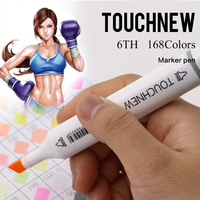 TOUCHNEW 30/40/60/72/80/168 Color School Stationery Marks Alcoholic Oily Based Ink Sketch Markers Pen For School