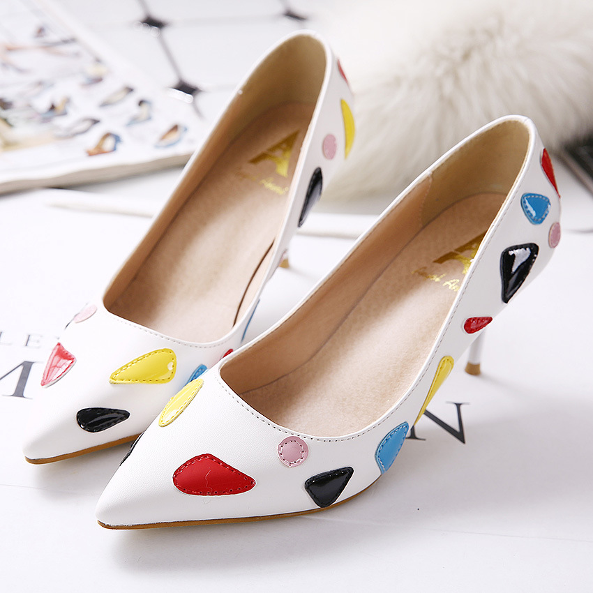New Brand Sweet Style Fashion font b Women b font Pumps Thin High Heel Pumps Shoes