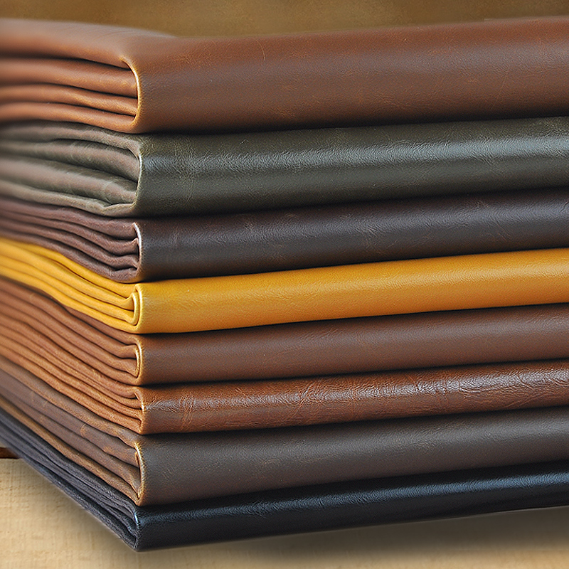 1 Meter Crazy Horse Leather Fabric For Wallet Handbags