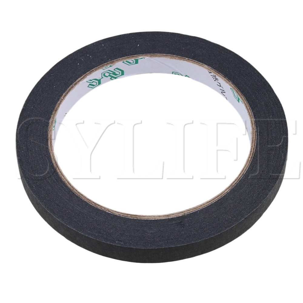 Black Insulating Cement Guitar Pickup Insulated Adhesive Tape 10mm