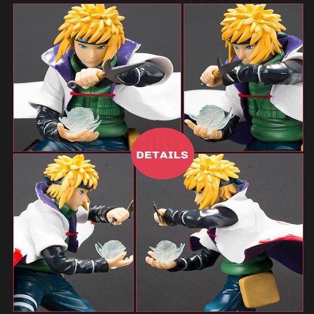 21cm Anime with falsh LED light Naruto Shippuden figure yondaime hokage Namikaze Minato PVC action figure model toy figurine  1